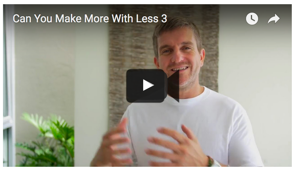 Can You Make More With Less…?